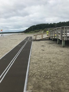 clam harbour accessible beach mat