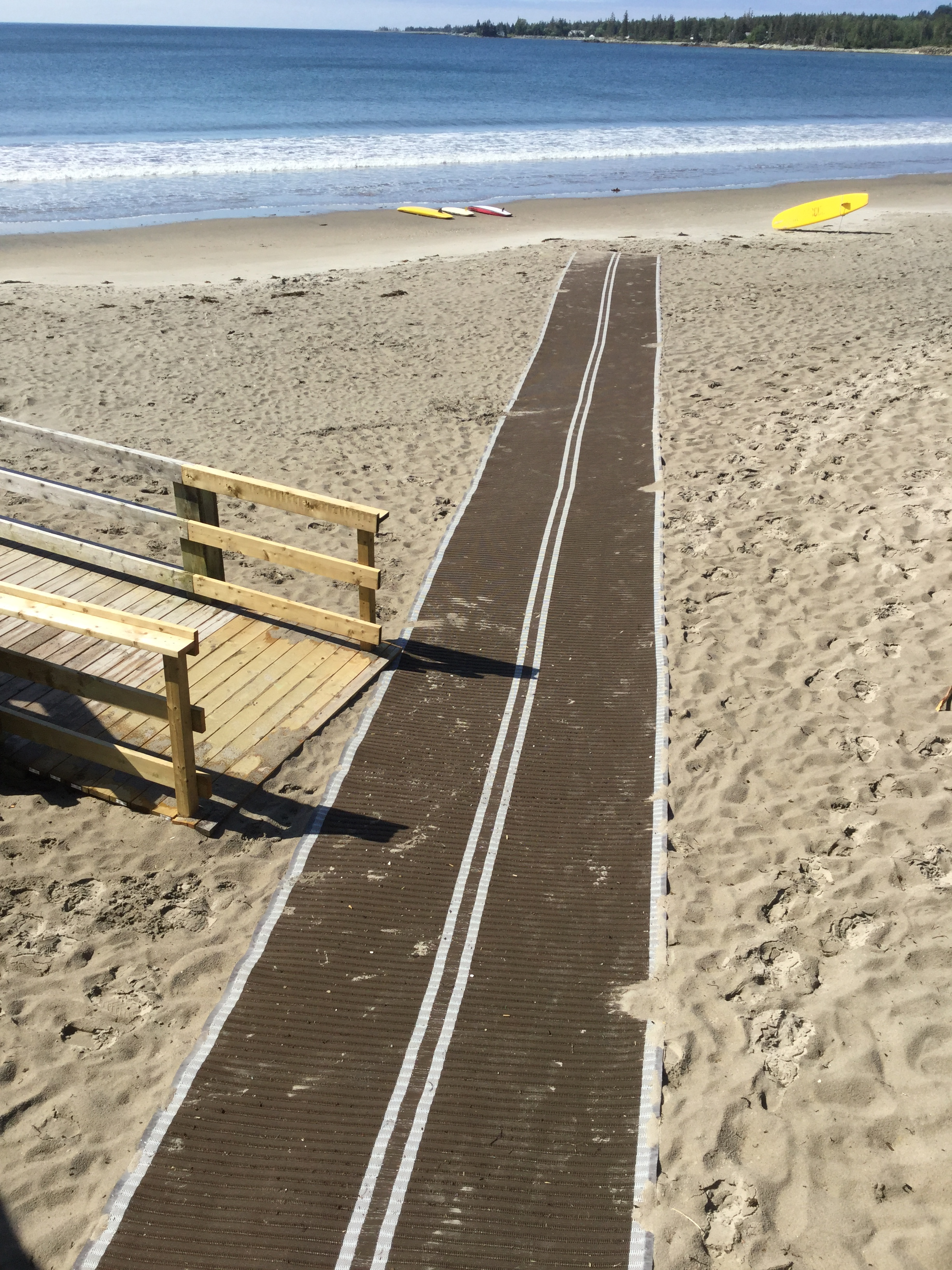 Rissers Beach accessible mat