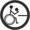 logo of wheelchair user playing table tennis