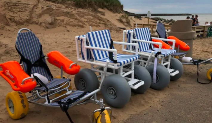 4 beach accessible wheelchairs